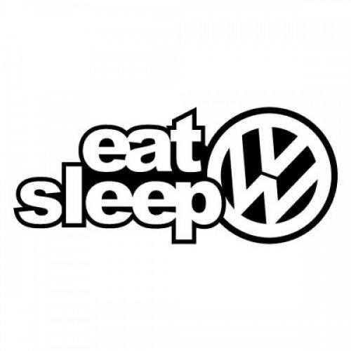 Стикер Eat, Sleep, VW| Цена от: 10.00лв
